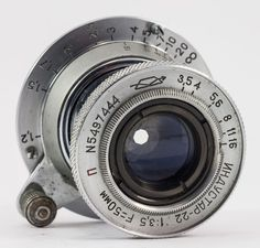 "Industar-22 1:3,5 F=50mm RED ""P"" KMZ 35mm Rangefinder s/n 5497444  ***TESTED*** #Industar"