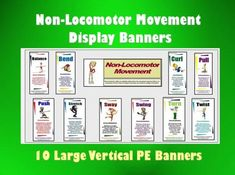 Non-Locomotor Movement Display Banners: 10 Vertical | Edworld Exchange | Where Educators Buy and Sell Resources