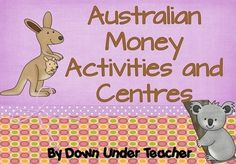 This pack has 90 pages of money activities. Plenty of practice with realistic Aussie coins and notes! Money Activities, Teacher Resources, Primary Teaching, Teaching Math, Australian Money, Early Years Maths, Teaching Money, Money Cards, 2nd Grade Math