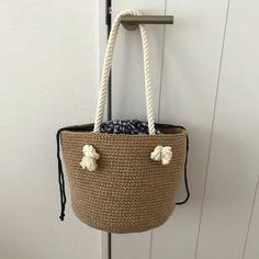 NaLaN'ın Dünyası : Hasır Çanta Nasıl Örülür? Market Baskets, Crochet Home, Hobbies And Crafts, Handicraft, Straw Bag, Projects To Try, Knitting, Pattern, Handmade