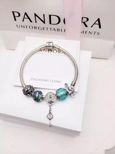 50% OFF!!! $159 Pandora Charm Bracelet Green. Hot Sale!!! SKU: CB02076 - PANDORA Bracelet Ideas