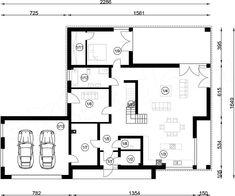 Projekt domu FX-31 257,31 m2 - koszt budowy - EXTRADOM Modern Family House, Architect House, Floor Plans, 1, Homemade Modern, Modern Homes, Floor Layout, Build House, Floor Plan Drawing