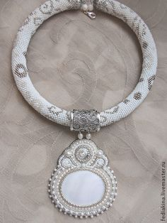 "Pendants handmade. Fair Masters - handmade pendant + harness ""Winter patterns."" Handmade."