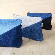 Updates from DesignSandberg on Etsy Denim Bag Patterns, Denim Purse, Denim Jeans, Denim Crafts, Jean Crafts, Denim Handbags, Embroidery Bags, Recycle Jeans, Recycled Denim