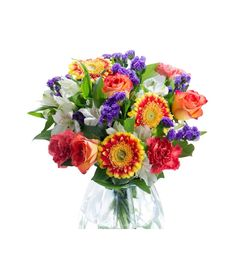 Show your enthusiasm with this lovely bouquet with gorgeous mixed flowers in a variety of colours for your special one.