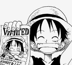 Luffy and his first wanted poster