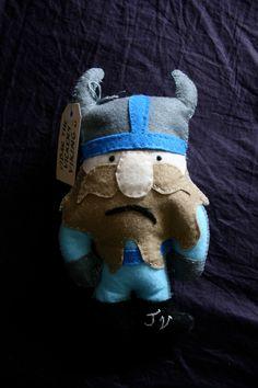 Handmade Viking felt softie pic only Felt Ornaments, Holiday Ornaments, Softies, Plushies, Viking Baby, Doll Toys, Dolls, Dragon Party, Cute Plush