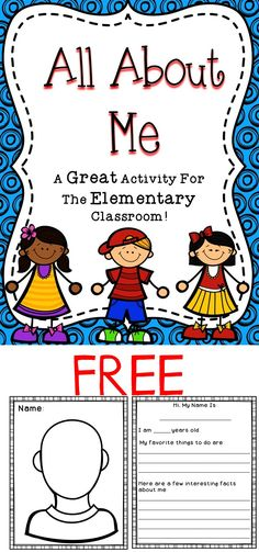 Back to school activities: All About Me: FREE All About Me Activity - This all about me activity will be a great way to learn about your students on the first day of school! All About Me Activities, First Day Of School Activities, 1st Day Of School, My High School, Beginning Of The School Year, Summer School, Middle School, Classroom Activities, Classroom Ideas
