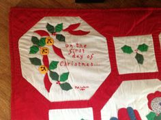 My 12 Days of Christmas Quilt 12 Days Of Christmas, Christmas Tree, Tree Skirts, Quilts, Holiday Decor, Home Decor, Teal Christmas Tree, Homemade Home Decor, Comforters