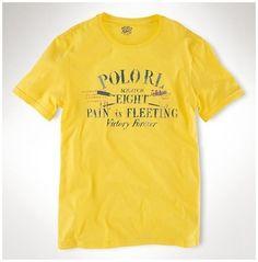 boutique polo ralph lauren - Polo Ralph Lauren Classic Fit Col Rond T-Shirt  Jaune dc331bc03d4b