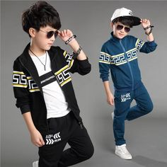 New Fashion Big Boys Cotton Outfits Children Korean Tracksuits Kids Boys Jacket And Pants Suits Boys Cool Sets From Elandfashion, $107.23 | Dhgate.Com
