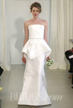 Angel Sanchez silk peplum wedding dress - Spring 2014