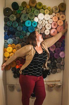 Best. Idea. EVER! (Yarn storage idea: Peg board yarn wall)