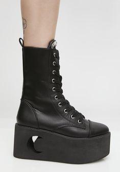 67ec9880e13 Eternal Eclipse Platform Boots. Punk BootsPastel Goth FashionGothic  ShoesPlatform BootsUnique FashionKnee High ...