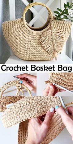 Crochet Blanket Patterns, Crochet Stitches, Knit Crochet, Afghan Crochet, Learn To Crochet, Crochet Blankets, Diy Crochet Bag, Crotchet Bags, Crochet Handbags