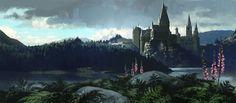 Hogwarts Castle, concept art from Harry Potter and the Prisoner of Azkaban | Adam Brockbank