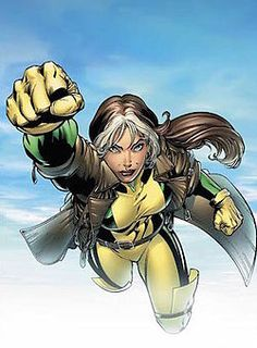 Rogue (comics) - Wikipedia, the free encyclopedia <3 During their flirtation, Cody impulsively kissed her, at which point her latent mutant power to absorb the life energy and psyche of others with skin-to-skin contact emerged. https://en.wikipedia.org/wiki/Rogue_(comics)