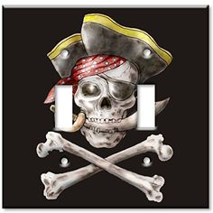 Art Plates - Pirate Switch Plate - Double Toggle Art Plates http://www.amazon.com/dp/B002F8ZBV8/ref=cm_sw_r_pi_dp_6nQ-ub06J0STF