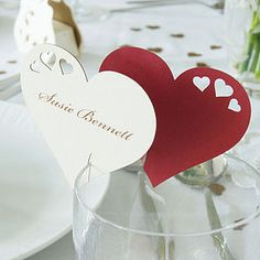 Wedding Wine Glass Name Place Cards - wedding stationery