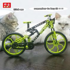 model building kits Compatible with Lego city mountain bike 3D blocks…