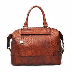 Urban Expressions Ellis Bag SALE $54 Cognac Python Print Vegan Leather