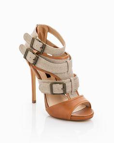 Burlap Sandals - I love them