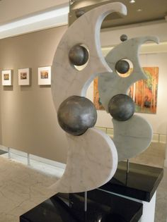 I. love. this. {Phoenix Carrara #marble and steel Artpeople Gallery #art #sculpture}