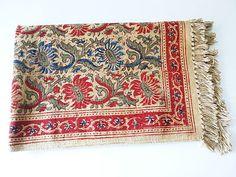 THE ROSE Organic Cotton Floor Rug Limited Edition by DaintyRedBird