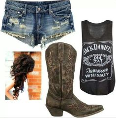 Jack Daniels Rough - I want a jack daniels shirt! Jack Daniels Rough - I want a jack daniels shirt! Country Girl Outfits, Country Girl Style, Country Fashion, Country Girls, Cute Country Clothes, Country Life, Country Thunder Outfits, Jack Daniels Shirt, Jake Daniels