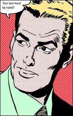 pop art lichtenstein man - Google Search