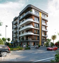 Facade Architecture, Residential Architecture, Facade Design, Exterior Design, Modern Bungalow Exterior, Condo Design, Design Design, Blog Design, Residential Building Design