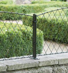 wall top fence panel garden requisites