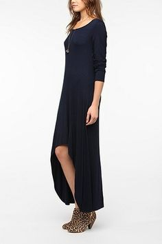 Out From Under Long-Sleeved High/Low Maxi Dress