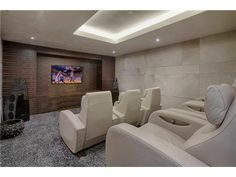 A really modern take on a home movie theater. Miami Beach, FL Coldwell Banker Residential Real Estate