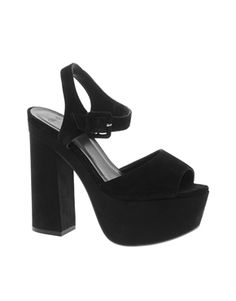 Image 1 of ASOS PREMIUM HYDE PARK Leather Heeled Sandals