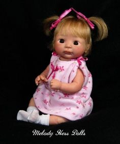 Realistic One of A Kind Hand Sculpted Mini Baby Girl by Melody Hess 1 DAY ONLY