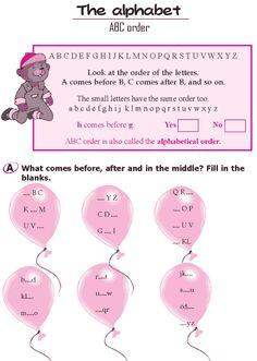 Grade 1 Grammar Lesson 2 The alphabet - ABC order Grammar For Kids, Good Grammar, Grammar Skills, Grammar Lessons, English Writing Skills, English Lessons, Teaching English, Have Fun Teaching, Teaching Aids