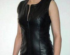 Etsy :: Jouw platform voor het kopen en verkopen van handgemaakte items Leather Jacket Dress, Bodysuit, Bodycon Dress, Trending Outfits, Unique Jewelry, Jackets, Clothes, Vintage, Etsy