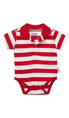 a0a27ded1 OFFCORSS Infant Newborn Baby Boy Polo Stripes Onesie Bodysuits Short Sleeve  Red 03 Months Bodys para