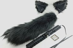 Lolita Accessories and more. Kitten Play Gear, Cat Ears And Tail, Animal Tails, Pet Gear, Puppy Play, Kittens Playing, Funny Anime Pics, Fantasy Costumes, Black Choker