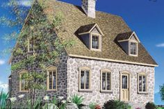 LOVE THE STONE AND WINDOWS - COULD I PUT THESE FEATURES ON THE CHIPPENDALE ? Colonial Style House Plan - 2 Beds 1.5 Baths 1438 Sq/Ft Plan #23-2090 Exterior - Front Elevation - Houseplans.com