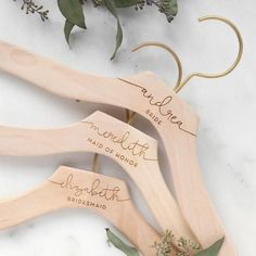 Engraved Bridesmaid Dress Hangers
