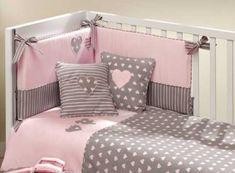 colchas para cunas de bebes bonito Baby Crib Bedding, Baby Pillows, Baby Bedroom, Baby Cribs, Girls Bedroom, Baby Sheets, Baby Sewing, Girl Room, Baby Quilts