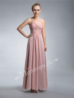 Herz Ausschnitt Bodenlang Abendkleid Hochzeitskleid ASLY410