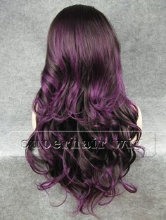 Gallery For > Brown Hair With Purple Highlights