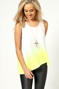 Lizzy Neon Dip Dye Vest
