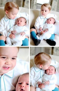 Prince George and Princess Charlotte (photos taken by The Duchess of Cambridge in mid May)