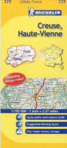 Michelin Map France Creuse Haute Vienne 325 Francais Map