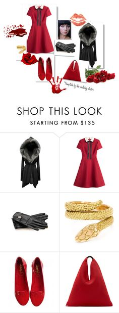"""""""Set #970 - Something's Missing"""" by the-walking-doctor ❤ liked on Polyvore featuring Valentino, Gucci, Cartier, Yves Saint Laurent and MM6 Maison Margiela"""