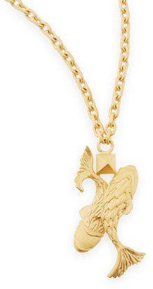 "Valentino Golden Pisces Zodiac Necklace, 36""L"